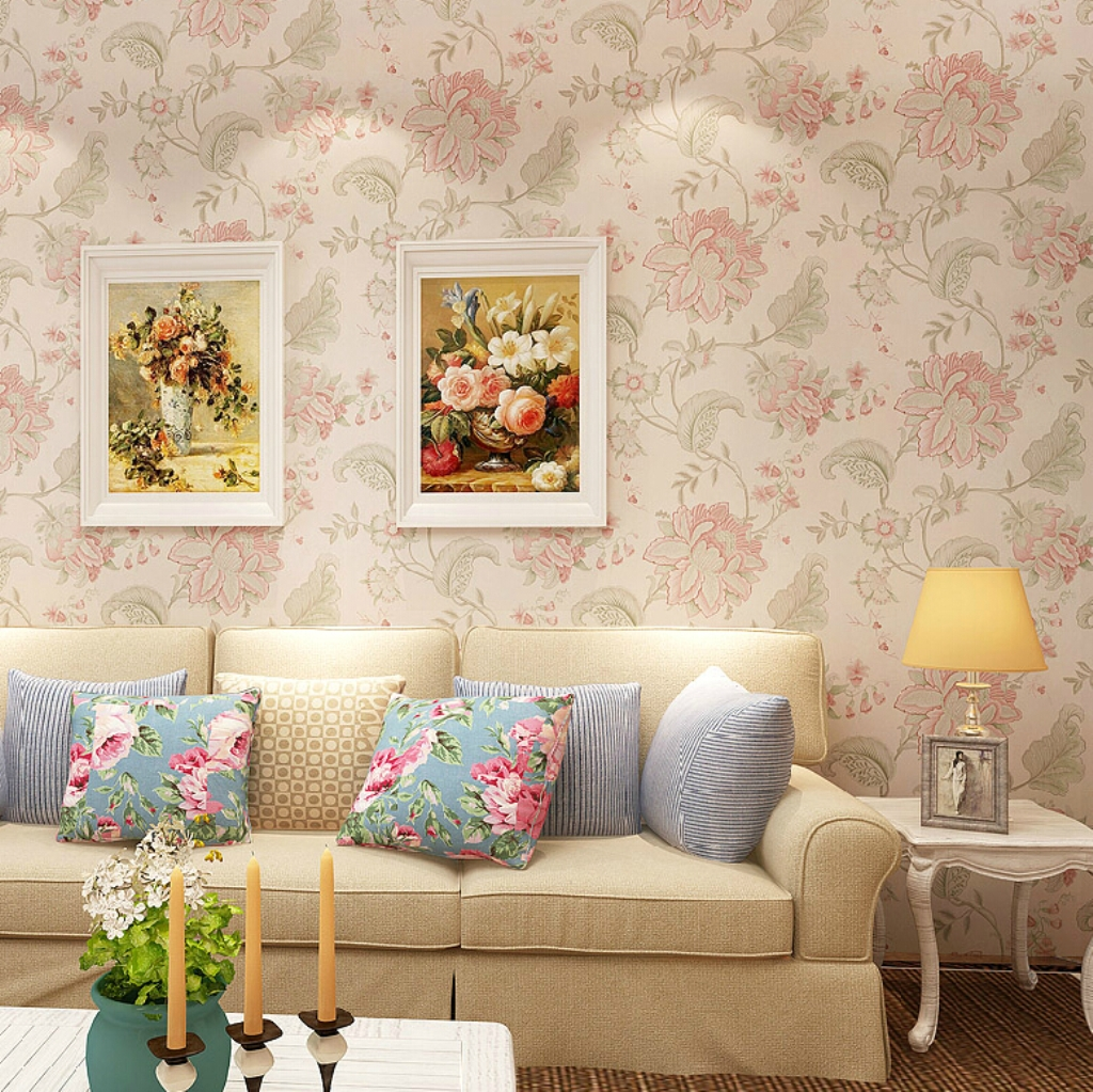 vintage living room wallpaper photo - 10