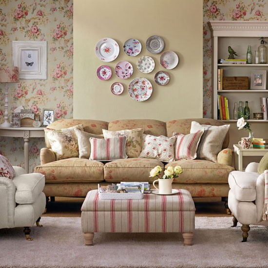 vintage living room wallpaper photo - 2