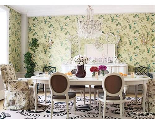 vintage wallpaper for dining room photo - 3