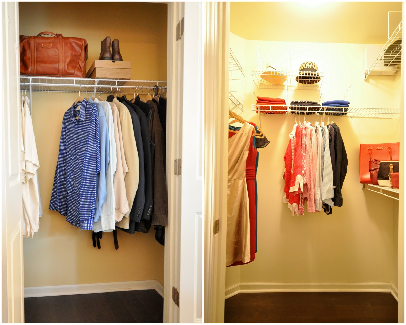 walk in closet in a small bedroom photo - 7