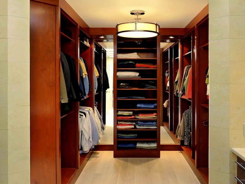 walk-in closet lighting design photo - 2