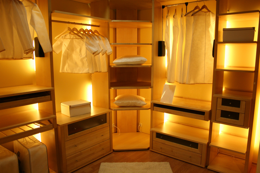 walk-in closet lighting design photo - 8