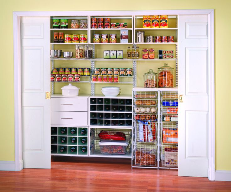 walk in pantry shelving systems photo - 8