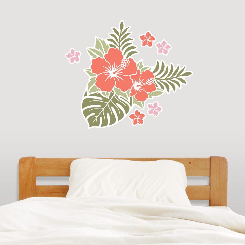 wall decor stickers flowers photo - 8