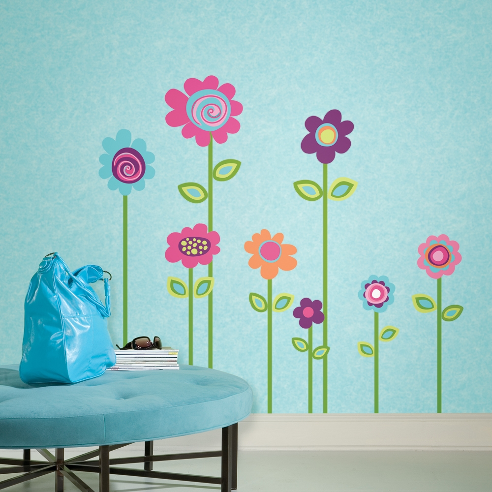 wall decor stickers flowers photo - 9