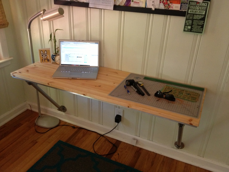 wall mounted desk build photo - 1