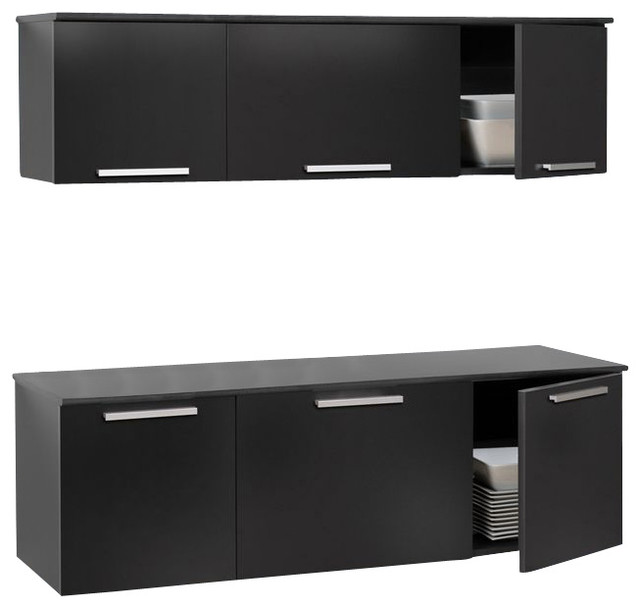 wall mounted desk hutch photo - 5
