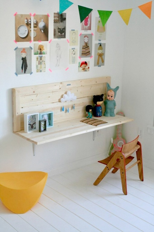 wall mounted desks for kids photo - 8