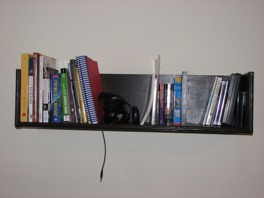 wall mounted shelves for books photo - 5