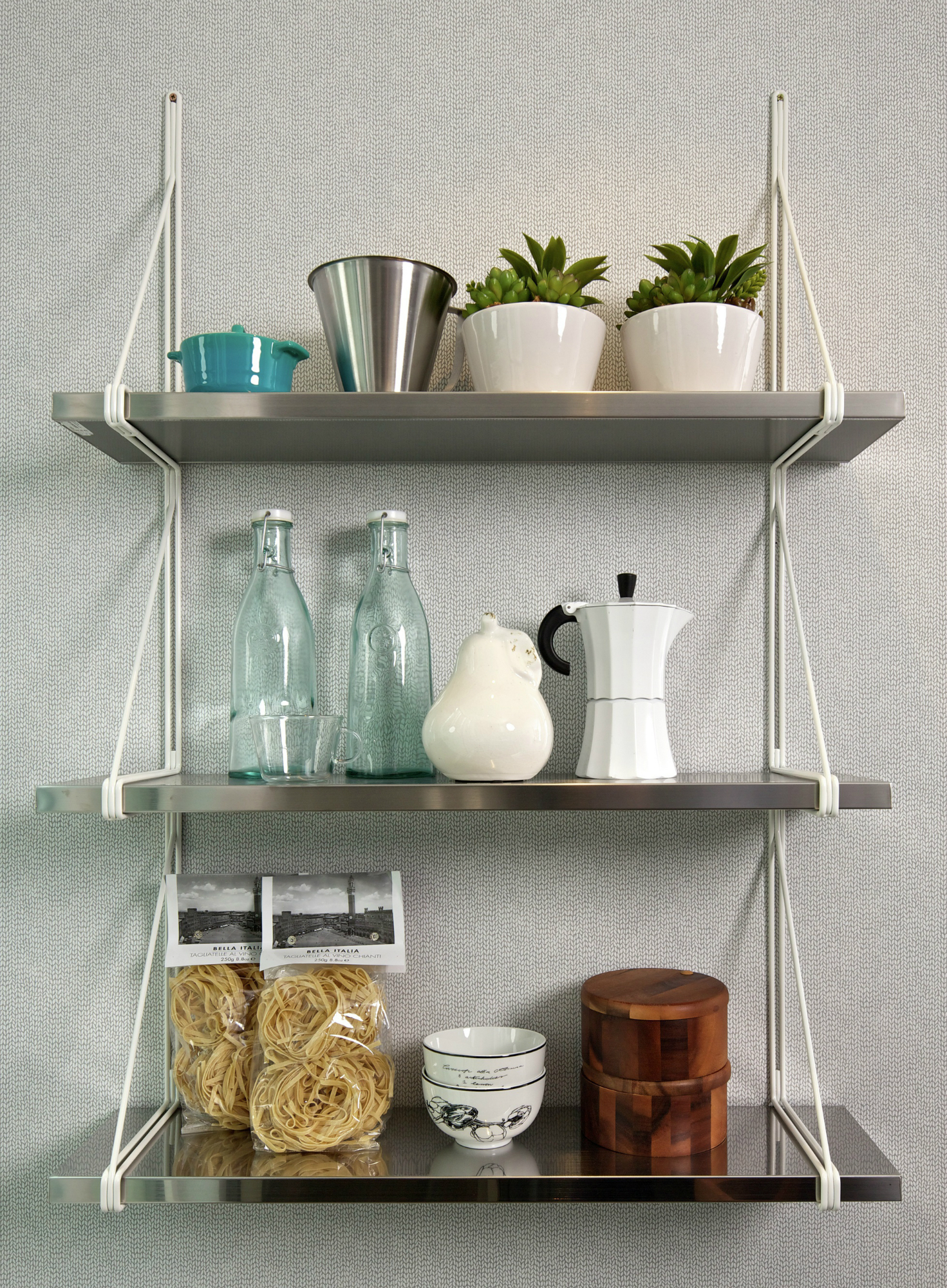 wall mounted shelves for kitchen photo - 4