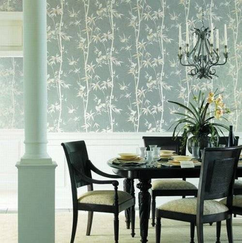 wallpaper for dining room modern photo - 3