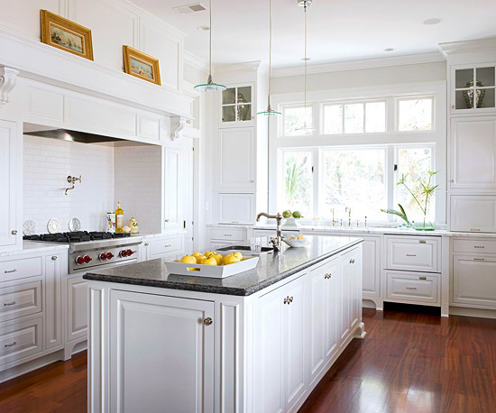 white kitchen cabinets design ideas photo - 2