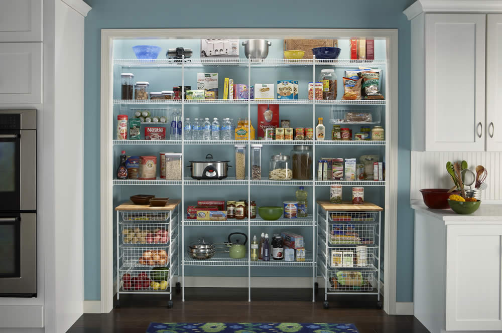 wire pantry shelving systems photo - 2