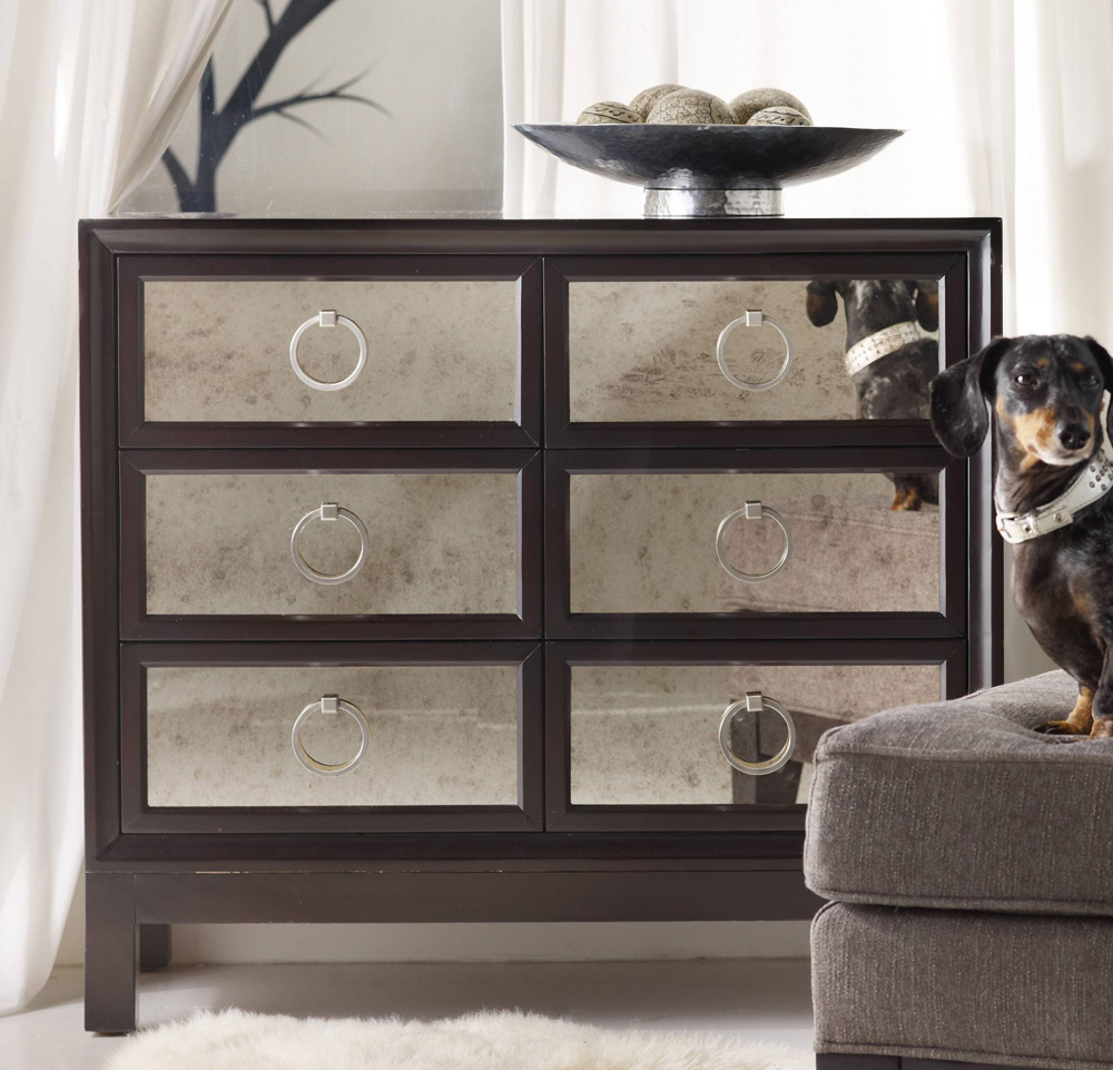 wood and mirrored bedroom furniture photo - 9