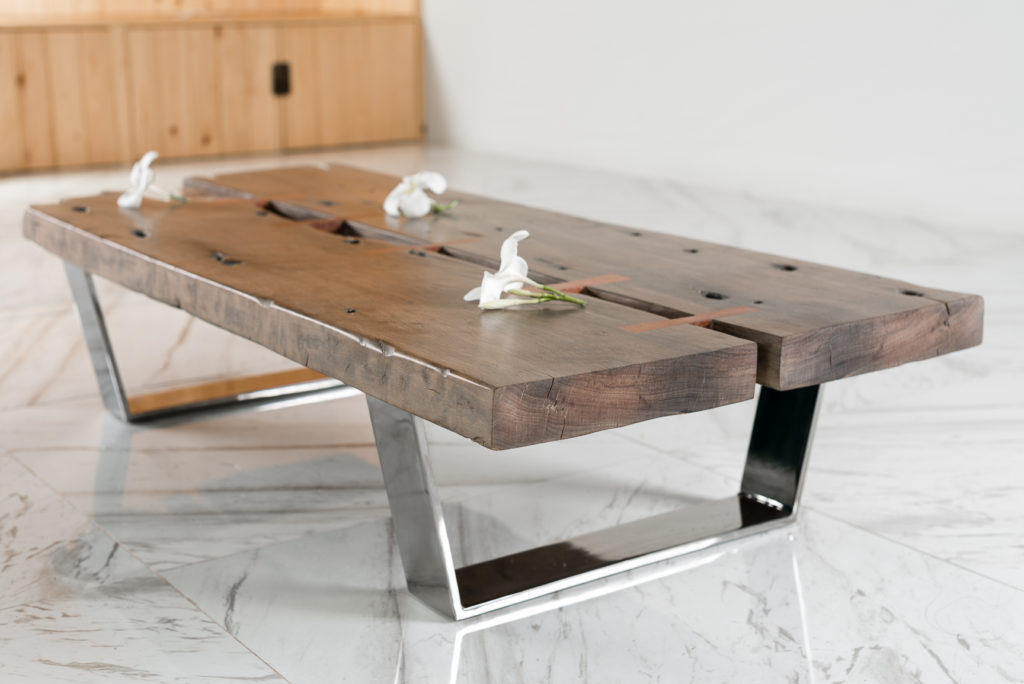 wood coffee table base only photo - 3