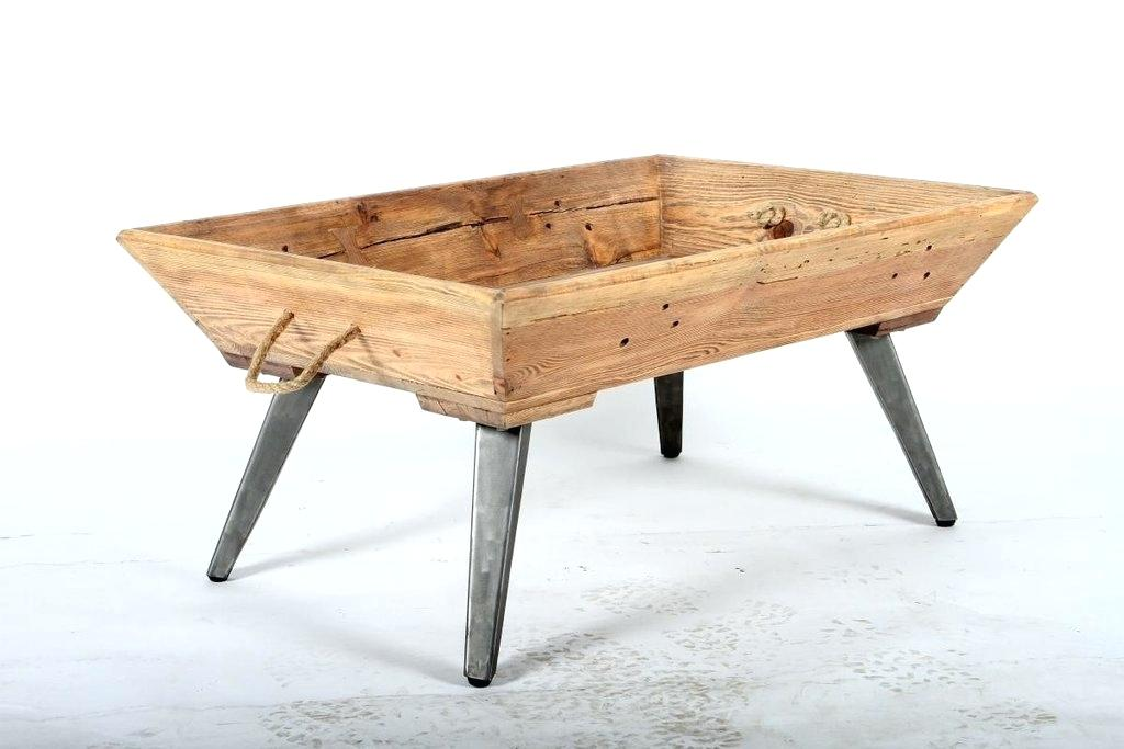 wood coffee table base only photo - 9