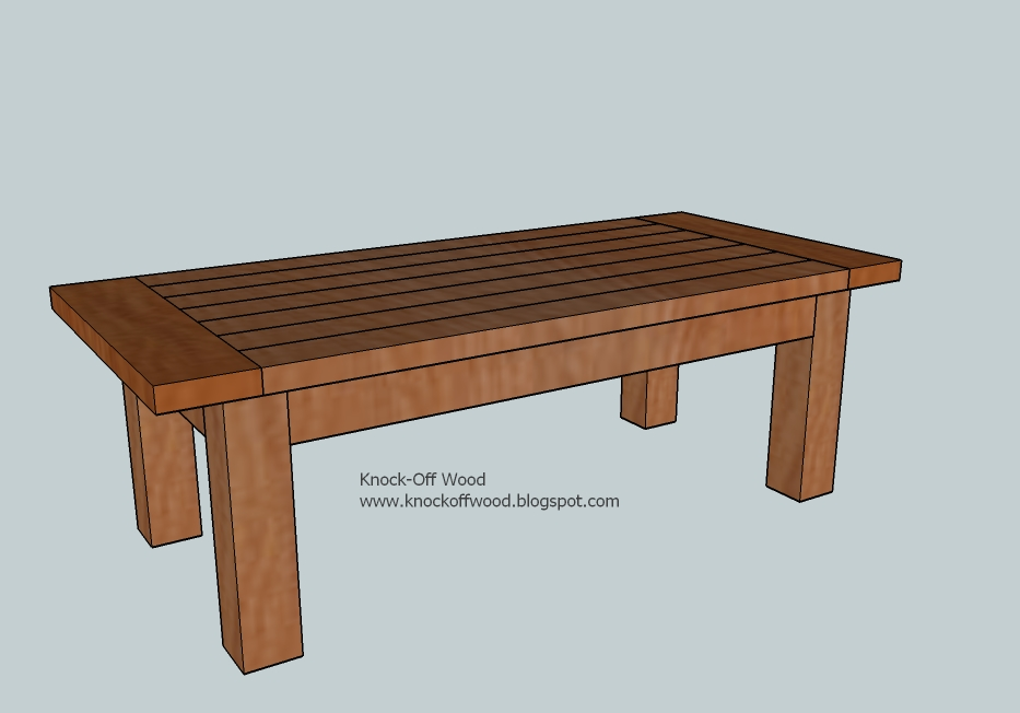 wood coffee table plans photo - 10