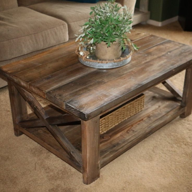wooden coffee table design plans photo - 6