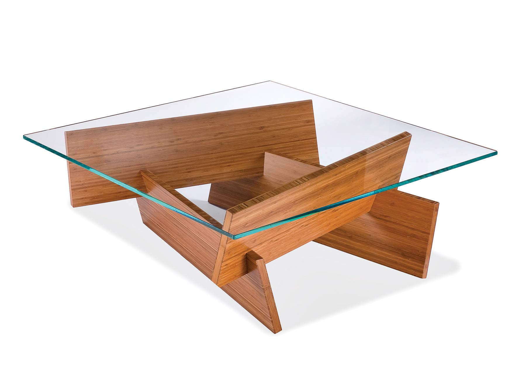 Wooden Coffee Table Glass Top Photo   2