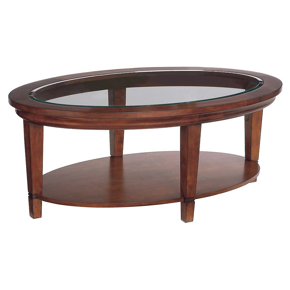 wooden coffee table glass top photo - 7