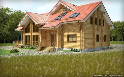 wooden country house plans photo - 1
