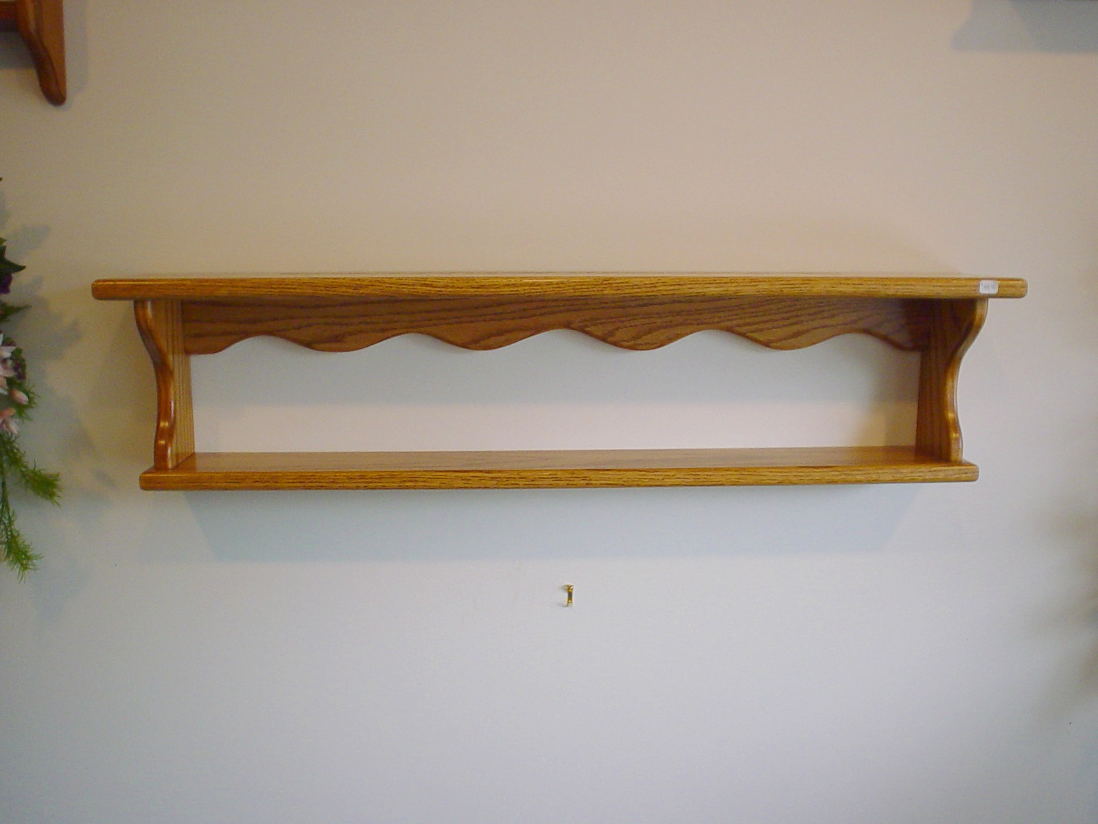wooden decorative wall shelf photo - 1