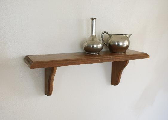 wooden decorative wall shelf photo - 10