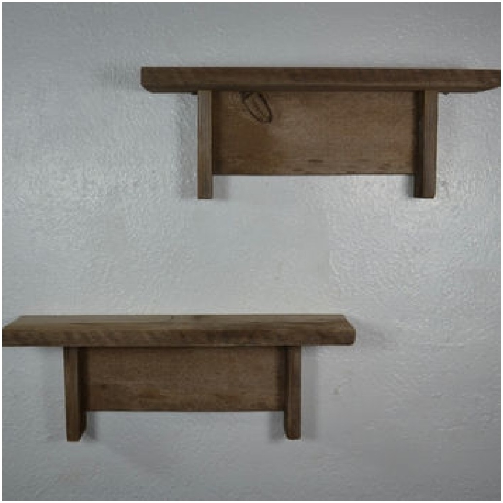 wooden decorative wall shelf photo - 5