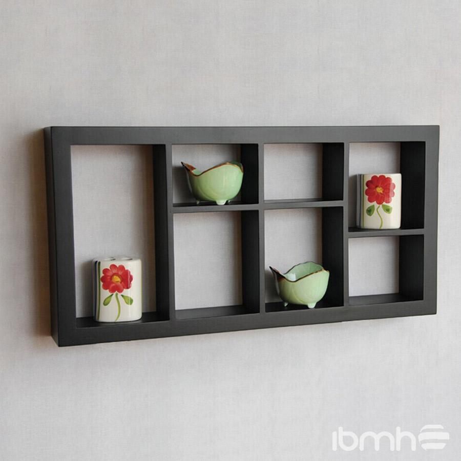 wooden decorative wall shelf photo - 6