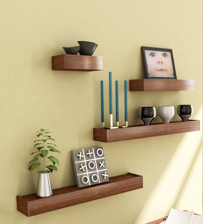 wooden decorative wall shelf photo - 7