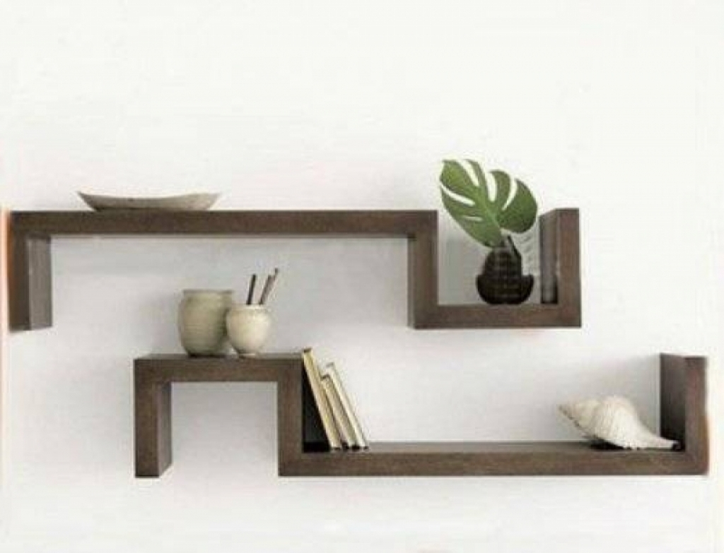 wooden decorative wall shelf photo - 9