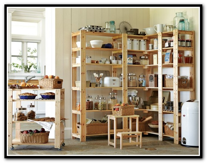 wooden pantry shelving systems photo - 3