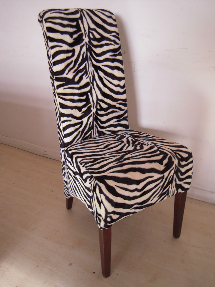 zebra kitchen chairs photo - 1