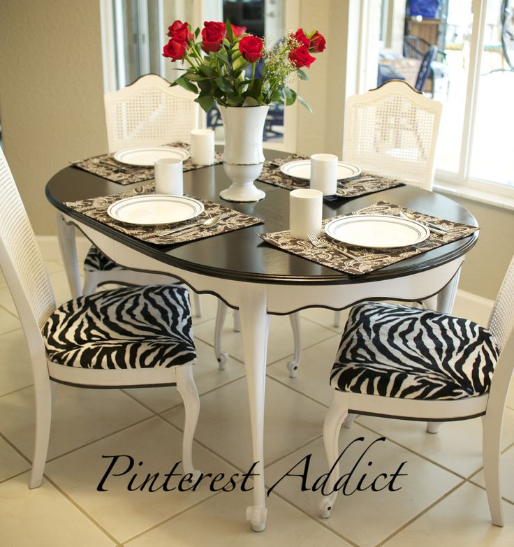 zebra kitchen chairs photo - 7