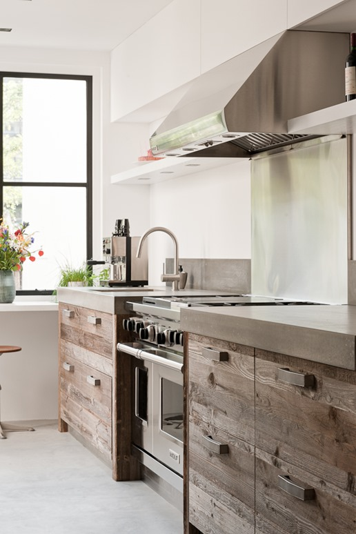 Wooden Rustic Kitchen Cabinets