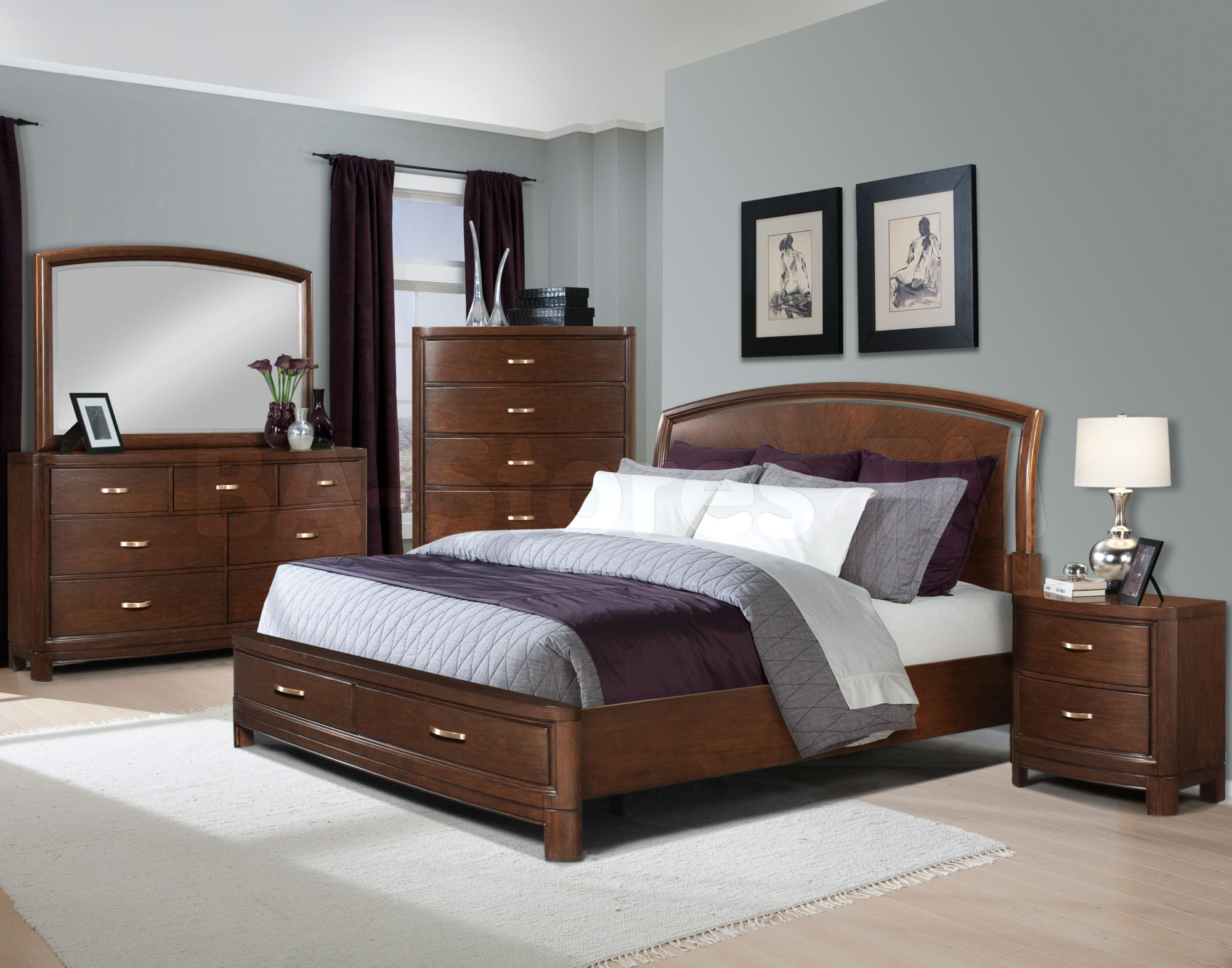 Bedroom ideas with brown furniture