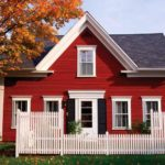 Exterior paint colors red
