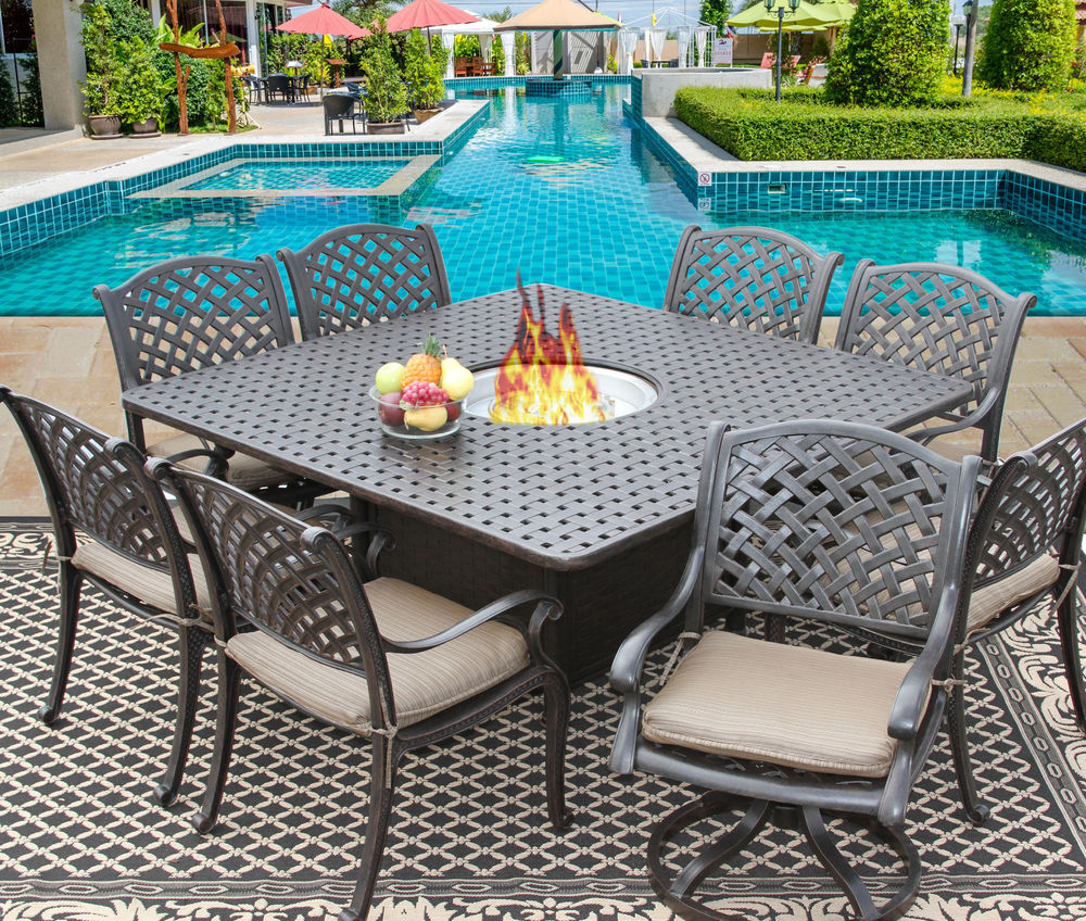 Patio dining sets for 8 people