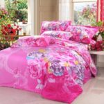 Rainbow floral bedding