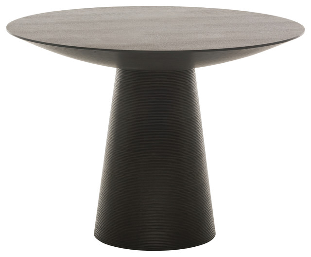 Round dining table black oak