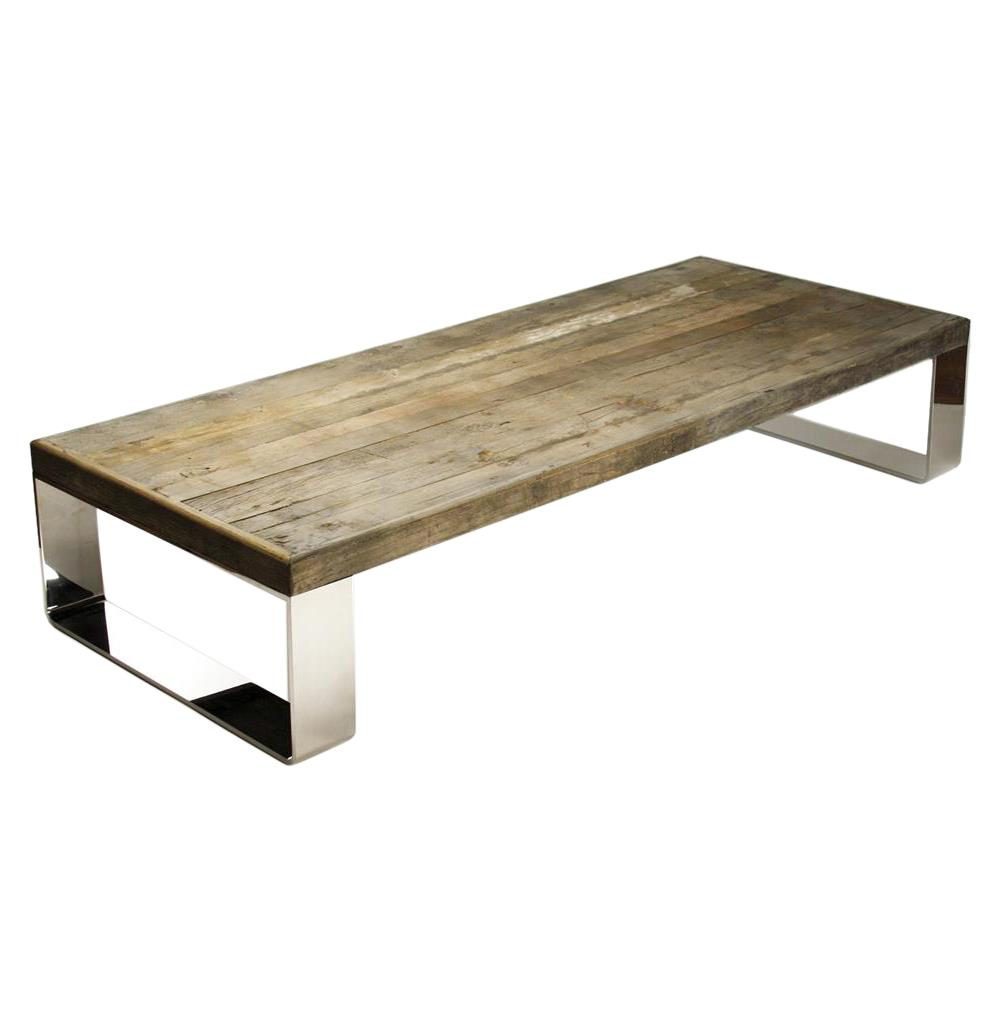 Wood coffee table contemporary