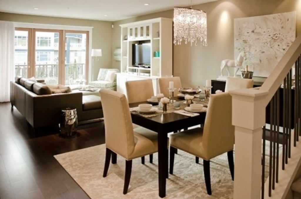 Dining Room on a Living Room Design photo - 2