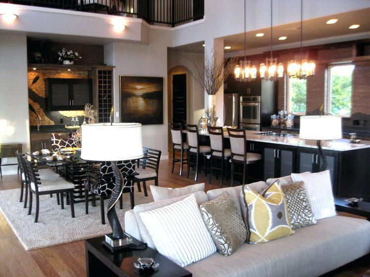 Dining Room on a Living Room Design photo - 3