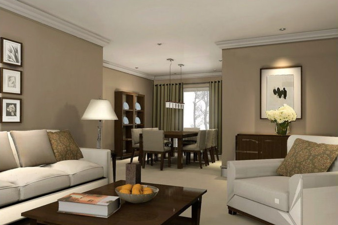 Dining Room on a Living Room Design photo - 4