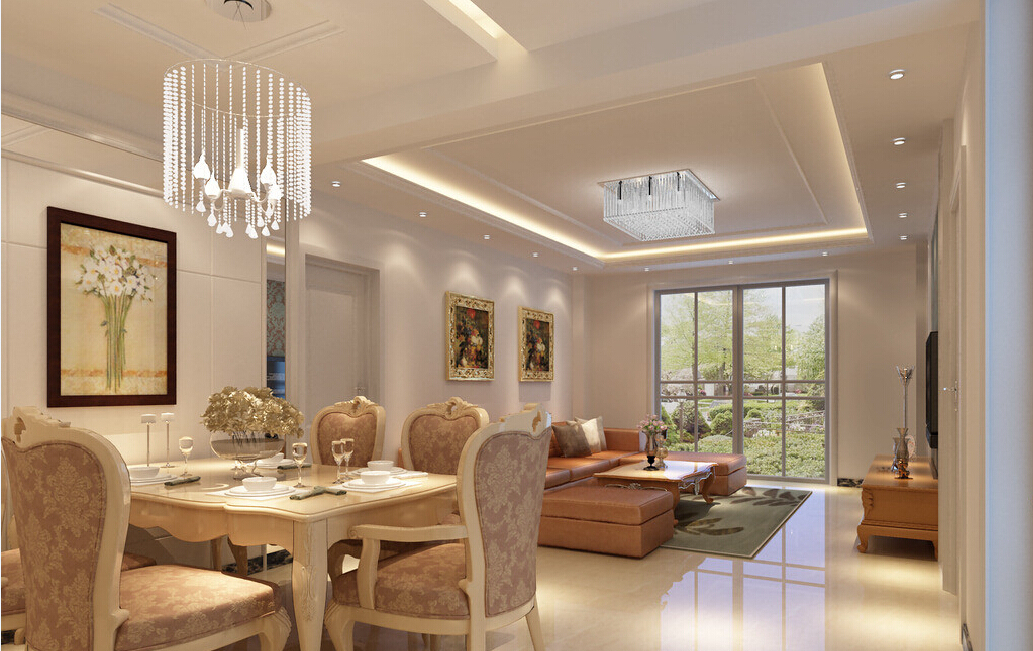 Dining Room on a Living Room Design photo - 7