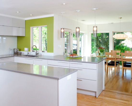 Modern Kitchen with Green Accent photo - 3