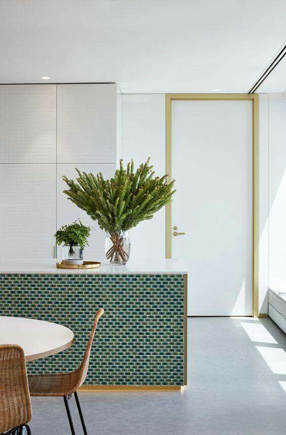 Modern Kitchen with Green Accent photo - 9