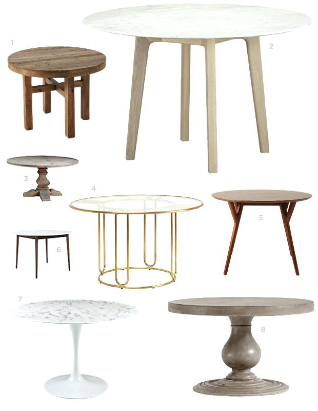 Small Circle Dining Room Table photo - 9