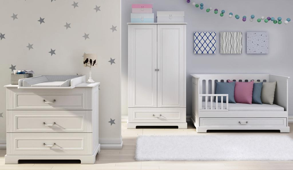 baby boy room with white furniture photo - 5