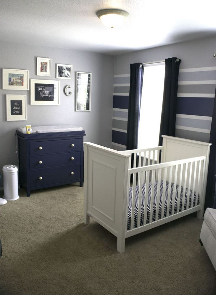 baby boy room with white furniture photo - 9